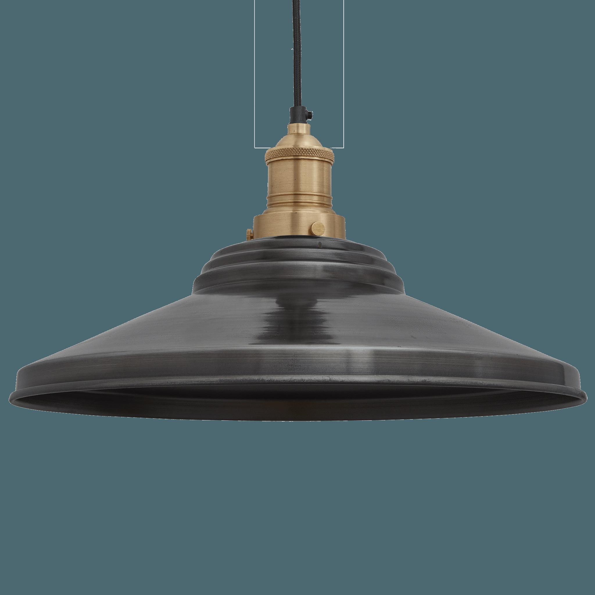 Metal Lamp Shade Light Grey Pewter