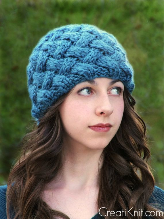 How To Knit A Basket Weave Beanie : Knitting pattern the basket weave hat english deutsch