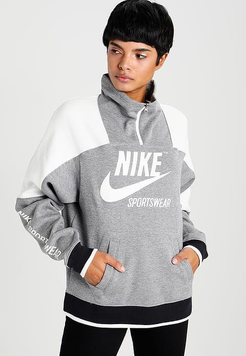 8a84f3a5c417 Nike Sportswear CREW ARCHIVE - Sweat à capuche - carbon heather - ZALANDO.FR