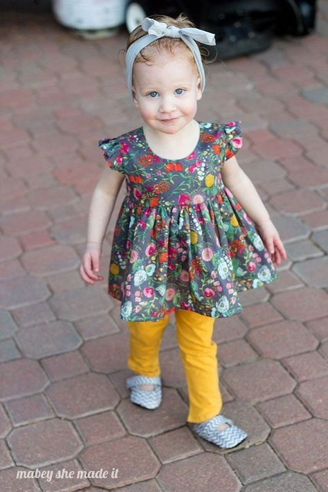 ef1228f8215 Flutterby Top Pattern and Tutorial at Mabey She Made It. A free sewing  pattern for little girls.