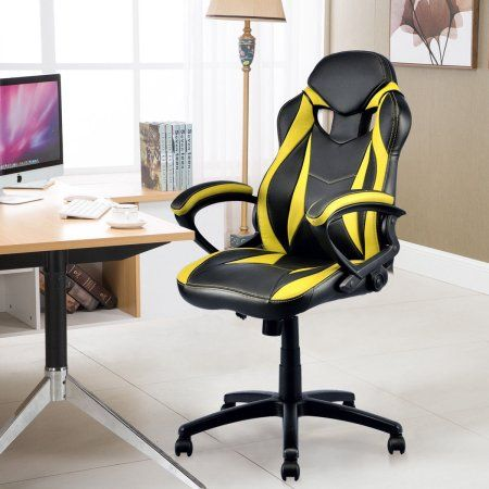 Admirable Goplus Executive Swivel Racing Style High Back Bucket Seat Ibusinesslaw Wood Chair Design Ideas Ibusinesslaworg