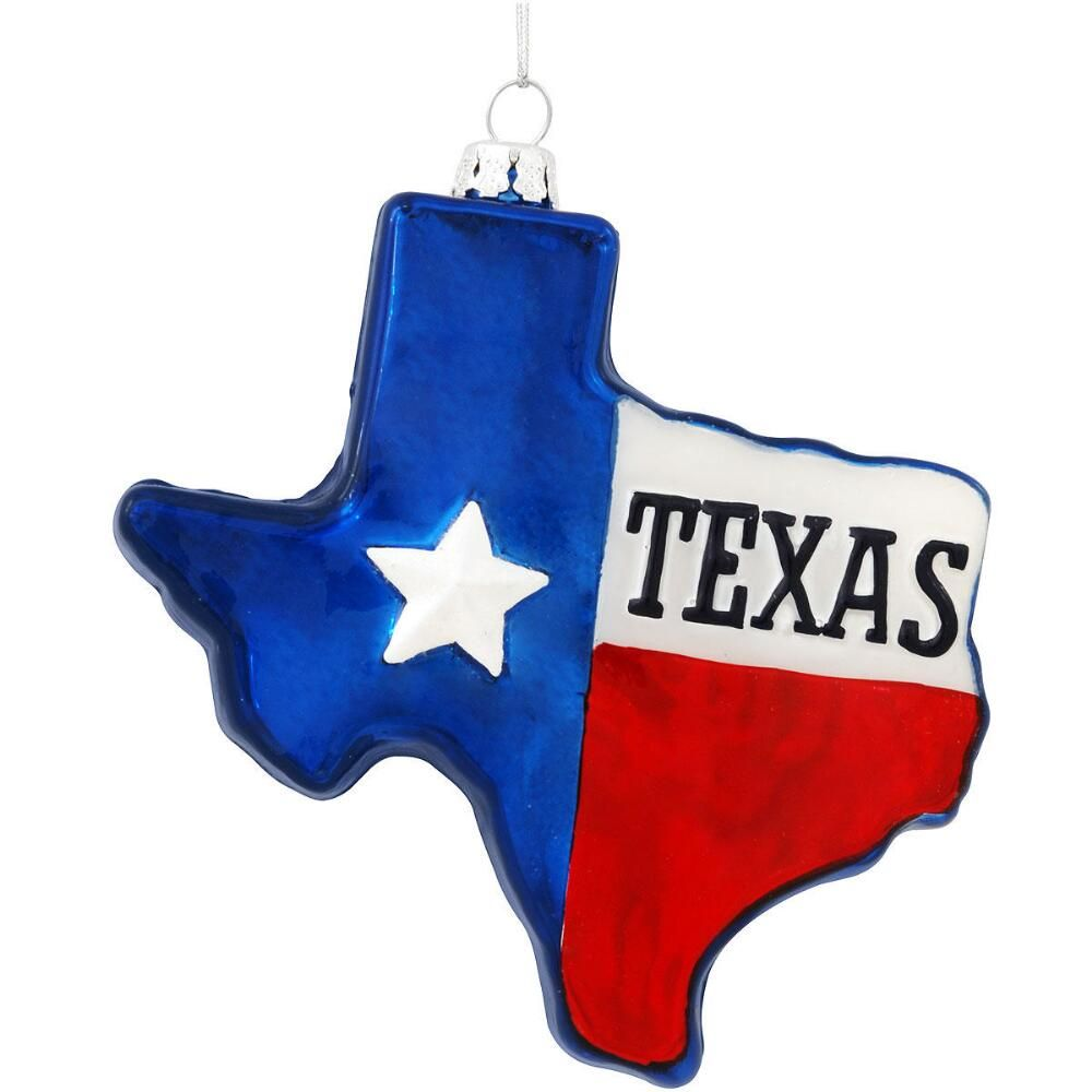 Texas Shaped Gl Ornament Novelty Nostalgia Fun Christmas Ornaments Bronner S Wonderland