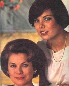 Princess Grace & her daughter, Caroline in 1976