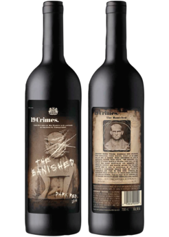19 Crimes The Banished Red wine, Malbec, Wine