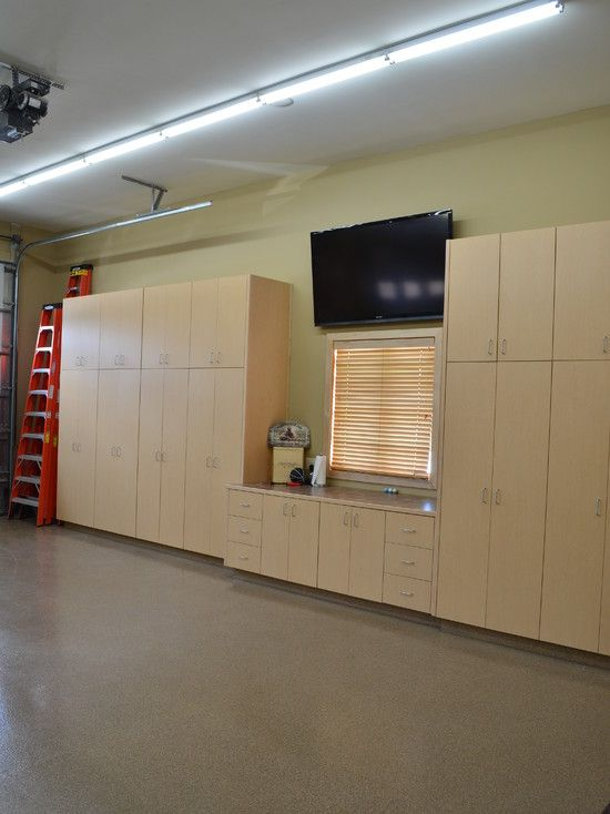 Traditional Garage And Shed Entertainment Center Design