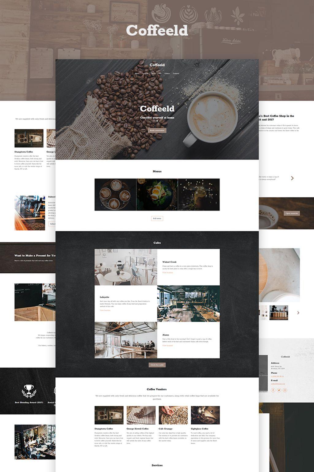 Coffeeld Cafe Ai Website Builder 77842 Cafe Website Design Cafe Website Website Design Layout