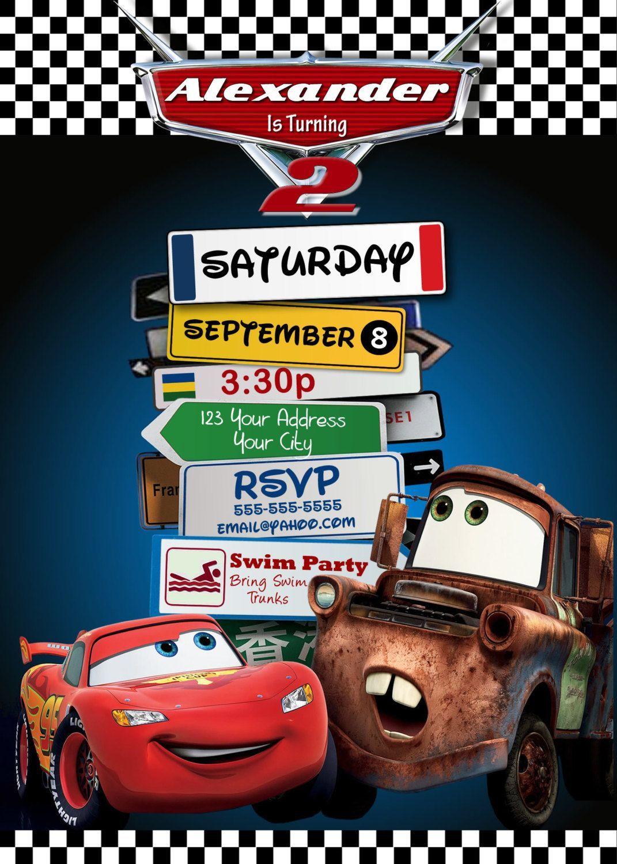 Cars Birthday Invitation Templates Free New Wallpaper Images Cars Birthday Party Disney Cars Theme Birthday Party Disney Cars Party