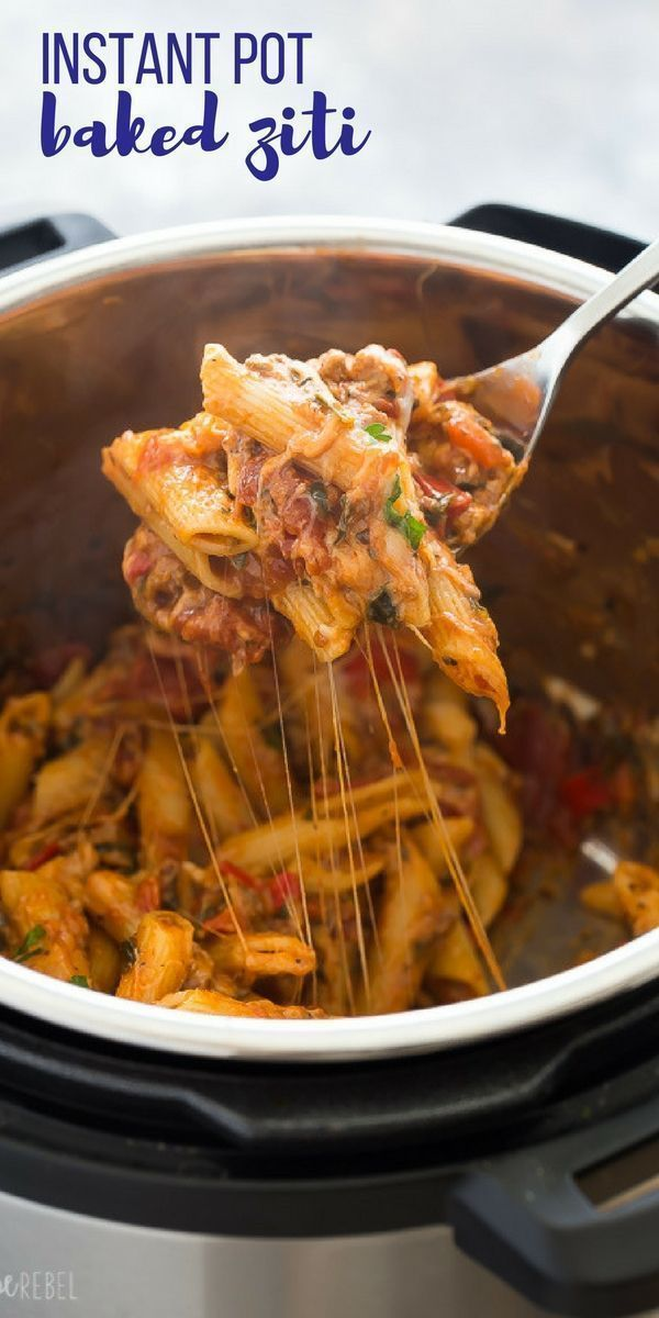 Instant Pot gebackene Ziti   Pasta Recipes #instantpotrecipeseasy