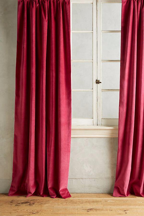 Velvet Curtains Shabby Chic, How To Clean Lined Velvet Curtains