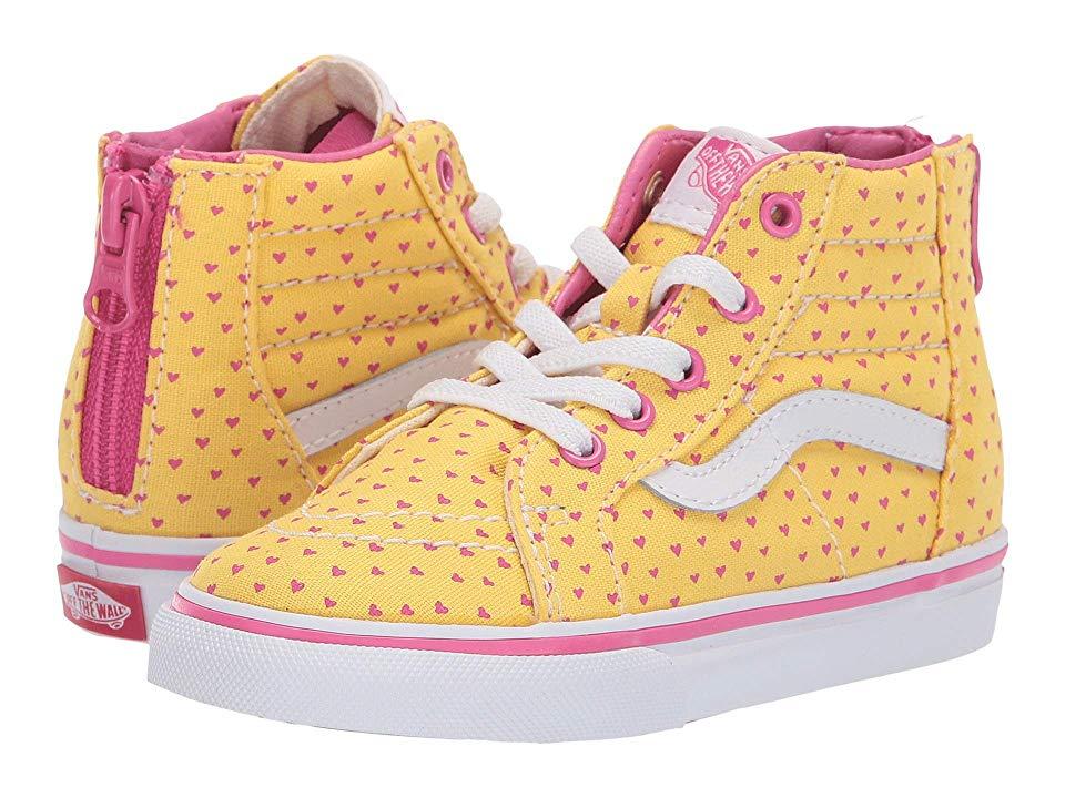 Vans Kids Sk8 Hi Zip (Toddler) Girls Shoes (Hand Drawn