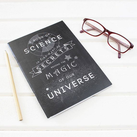 Science is Magic Chalkboard Notebook for Scientists. Plain Pages ...