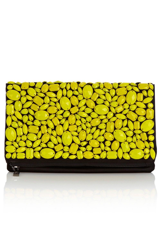 Jess Clutch £55 #neon #clutch