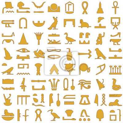 Vinilo Pixerstick Jeroglíficos egipcios decorativo Set 2 • Pixers ...