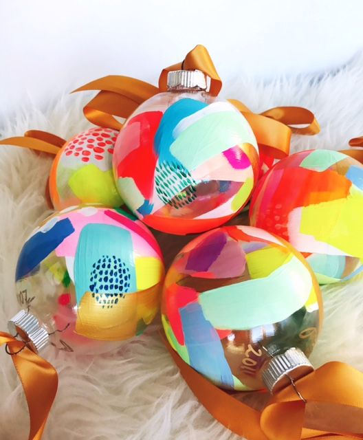 Hand painted glass ornament | Suze Ford