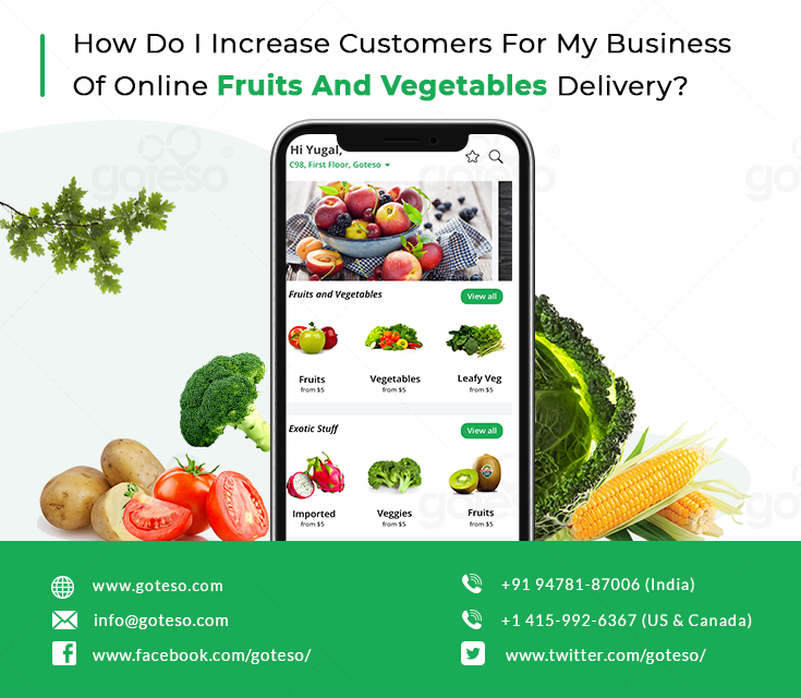 Increase customers for my business of online fruits and