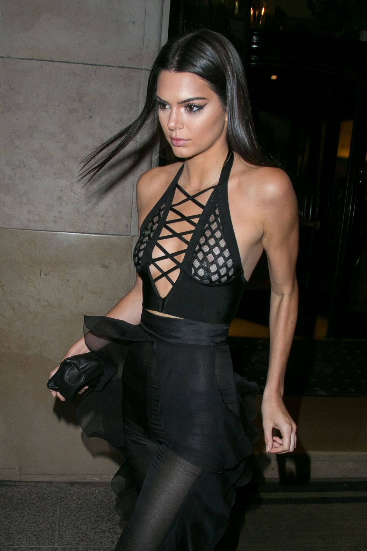 kendall jenner's nipples, bare butt had a big night out on the town