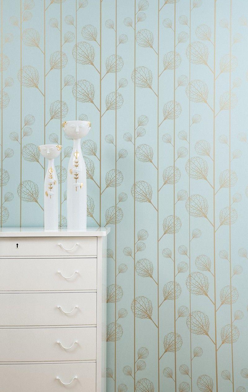 Ferm Living Wallpaper: Ribbed - Turquoise | Wallpaper | Pinterest ...