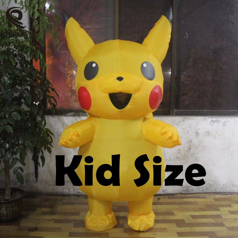 Brand Pokemon Go Pikachu Mascot Costume Halloween Cos Game Dress Adults Size New