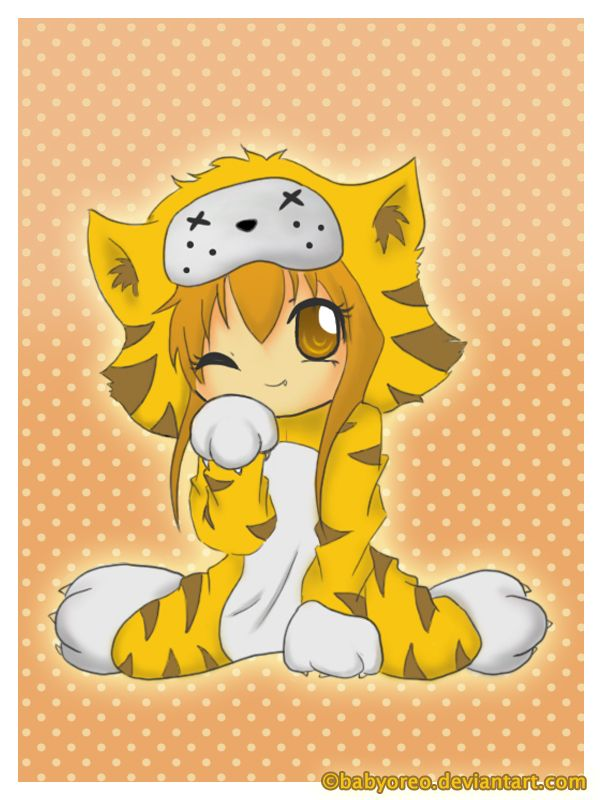 Chibi Tiger By Babyoreo On Deviantart Chibi Dragon Chibi Chibi Drawings