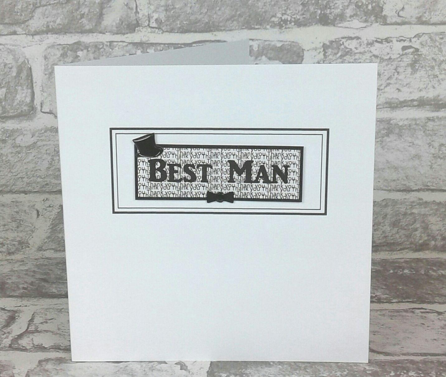 Best Man Card Bride card, Groom card, 30th wedding