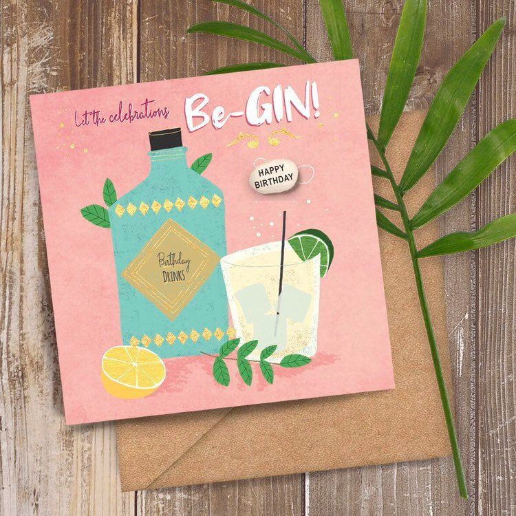 Gold Foil Let The Celebrations Be Gin Card Gin Birthday Card Etsy Birthday Cards Gin Gifts Birthday Messages