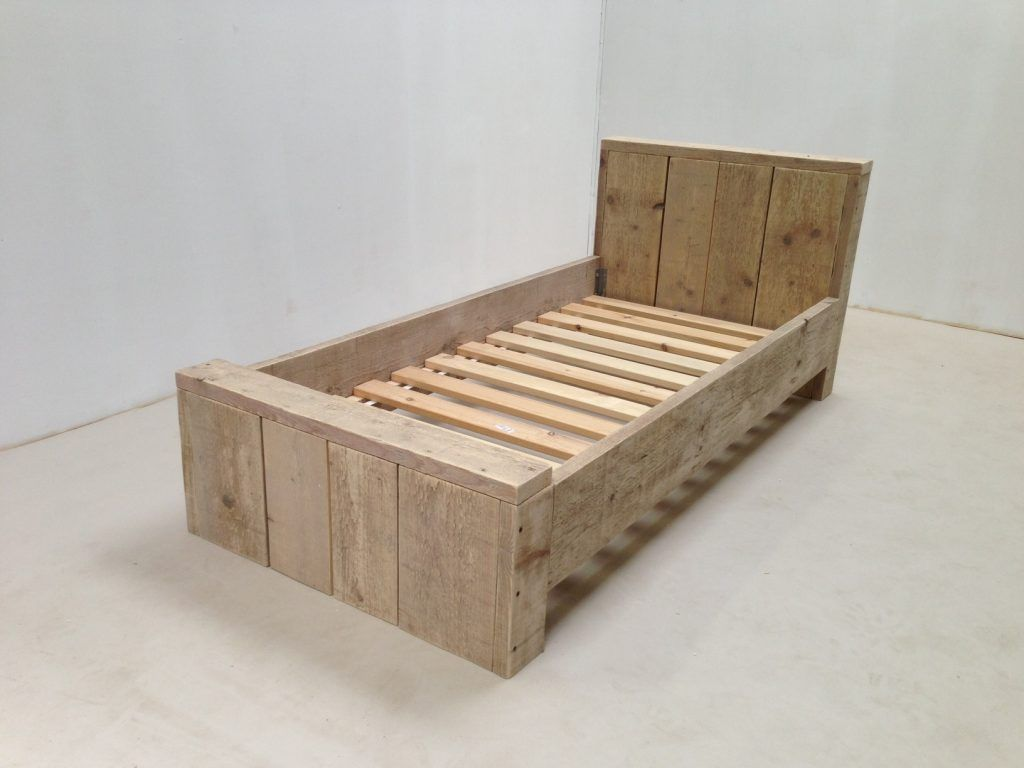 Verwonderend Steigerhouten kinderbed maken met een bouw tekening   Bed ME-25