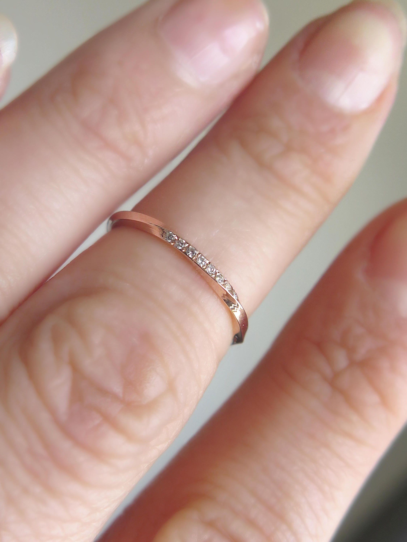 Mobius ring, Diamond mobius ring, Mobius wedding band, Pave mobius ...