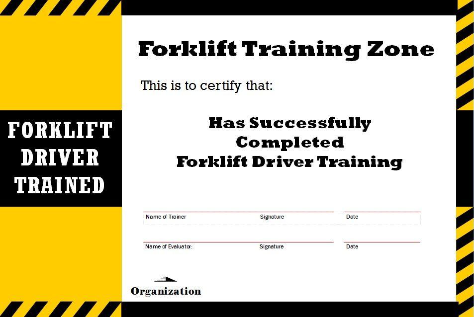 Forklift Certification Card Template The Best Professional Template In 2020 Professional Templates Templates Forklift
