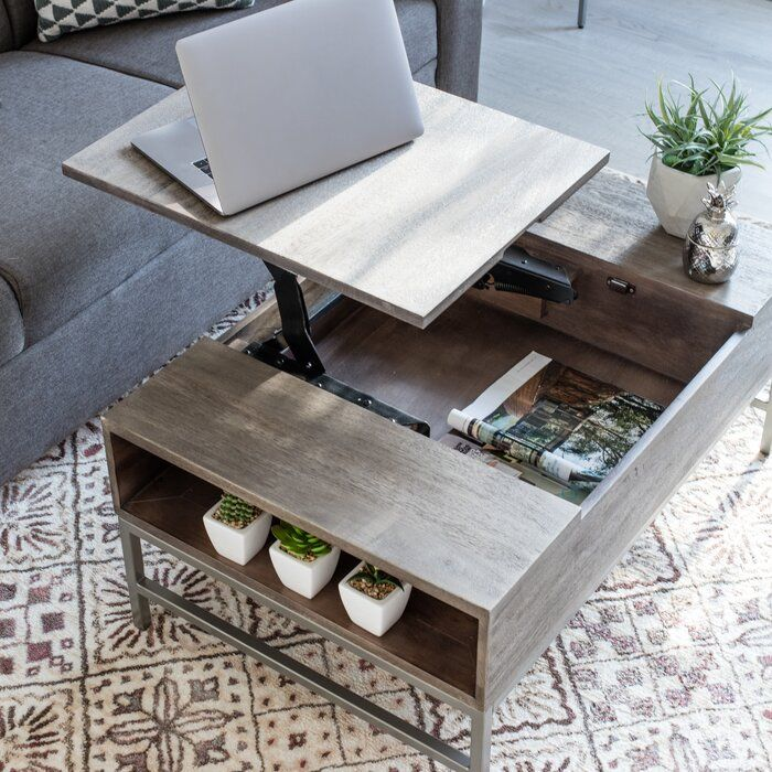Kassidy Lift Top Coffee Table With Storage Coffee Table Coffee Table Wood Wood Coffee Table Rustic