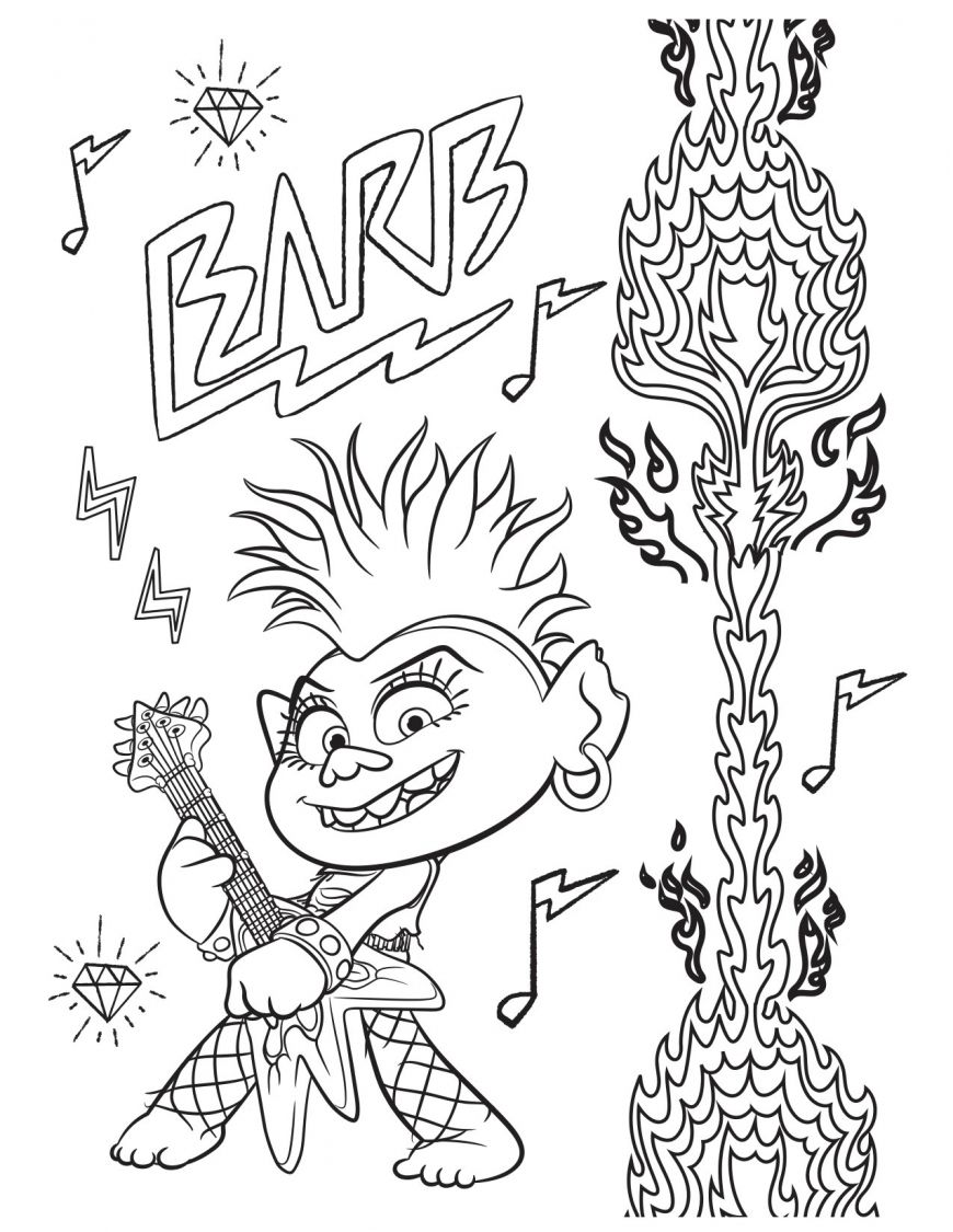 Free Printable Trolls World Tour Party Pack With Activity Coloring Pages Coloring Pages Cartoon Coloring Pages Paw Patrol Coloring