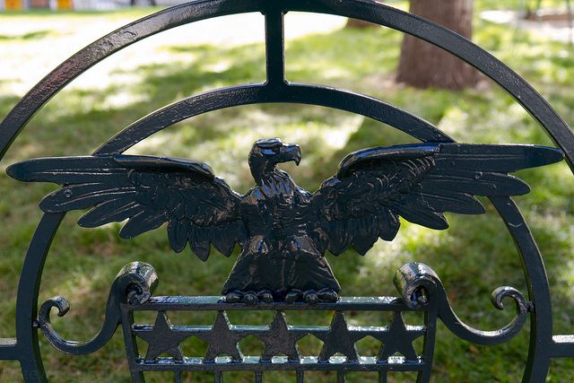 Cast iron eagle, fence, Byron White US Courthouse, 1916, Denver, Colorado.IMG_8259 LR Edit by StevenC_in_NYC, via Flickr