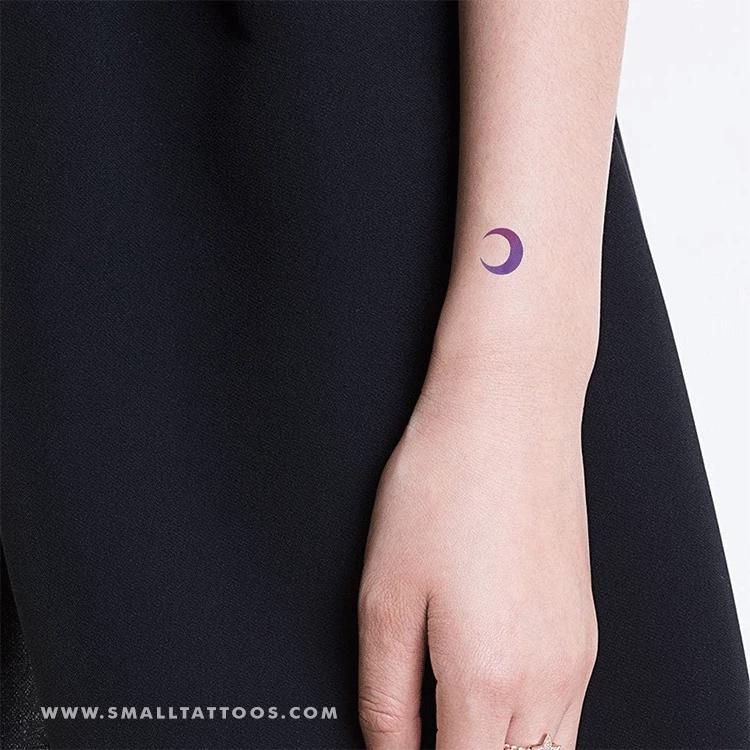 Purple And Pink Crescent Moon Temporary Tattoo By Zihee Set Of 2 Tatuaje De Astrologia Disenos De Tatuaje De Luna Tatuaje Luna Creciente