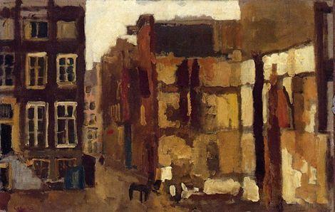 George Hendrik Breitner, Afbraak hoek Wijde Steeg, Amsterdam on ArtStack #george-hendrik-breitner-1857-1923 #art