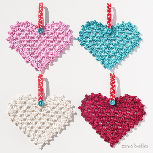 Crochet Granny Hearts, free pattern, Anabelia Craft Design ...