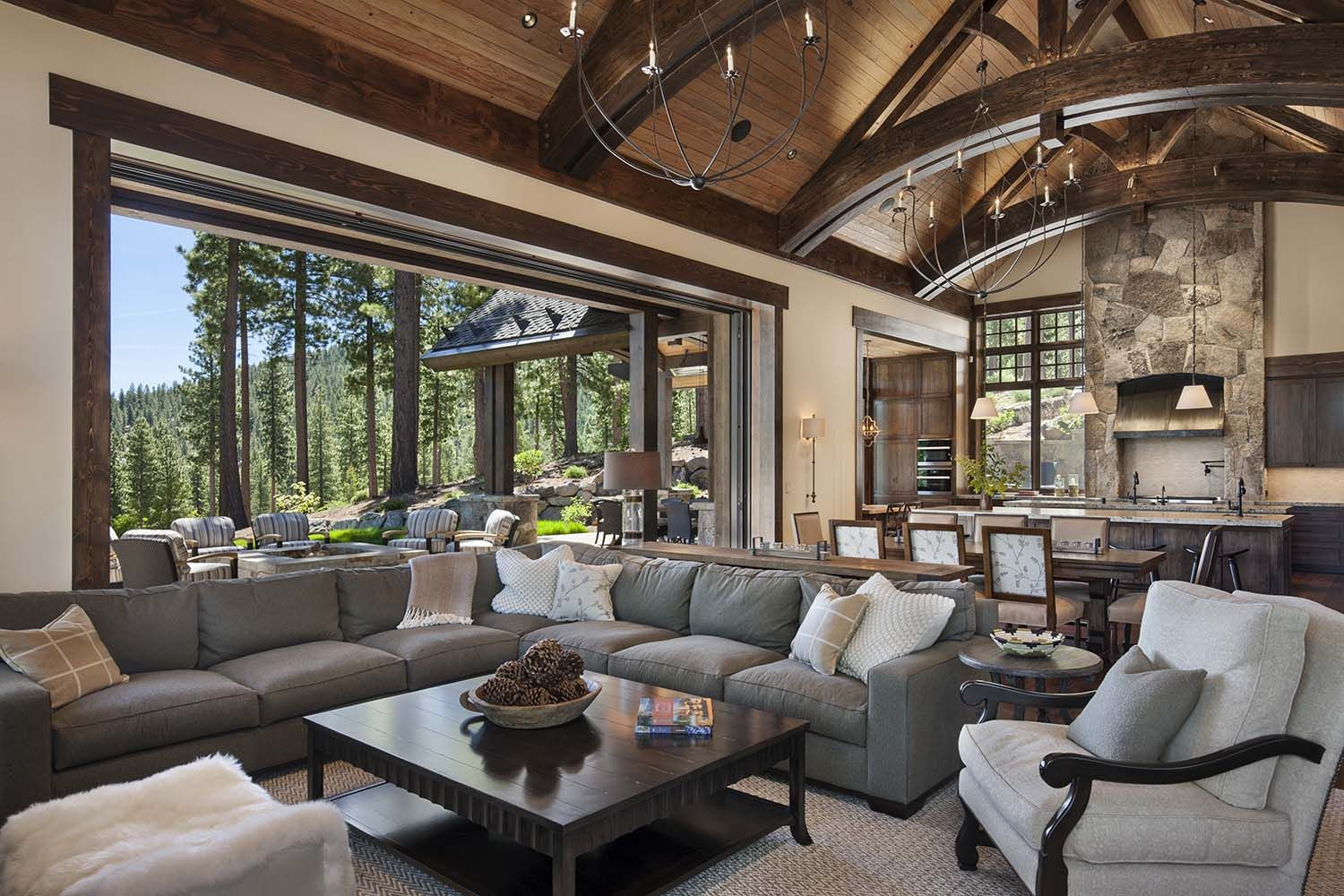 Gorgeous rustic mountain retreat with stylish interiors