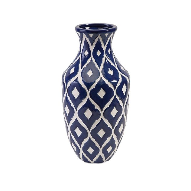 Maine Blue And White Tall Vase Jar Of Clay A Classic And Crisp