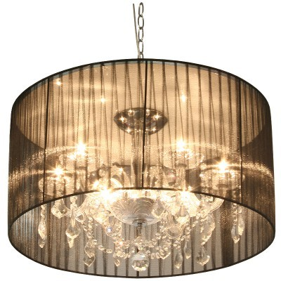 Veronica Black Voile Shade Chandelier from Alexander and Pearl