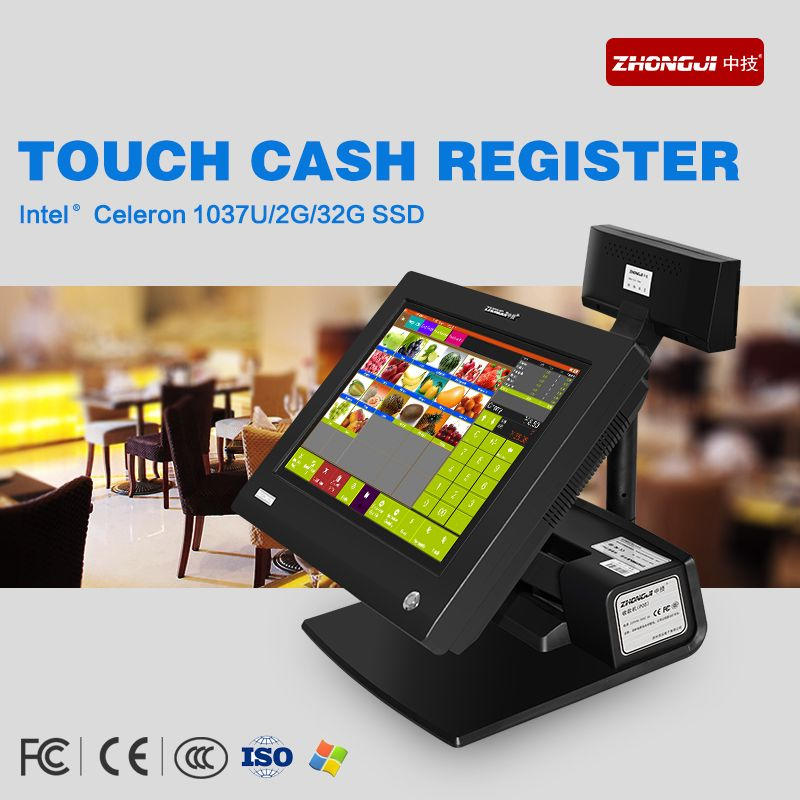 Factory cheaper pos all in one 15 inch touch screen pos