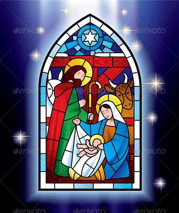 Christmas Stained Glass Window Font logo and Fonts
