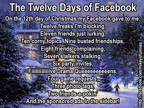 The Twelve Days of Facebook - On the 12th Day of Christmas my ...