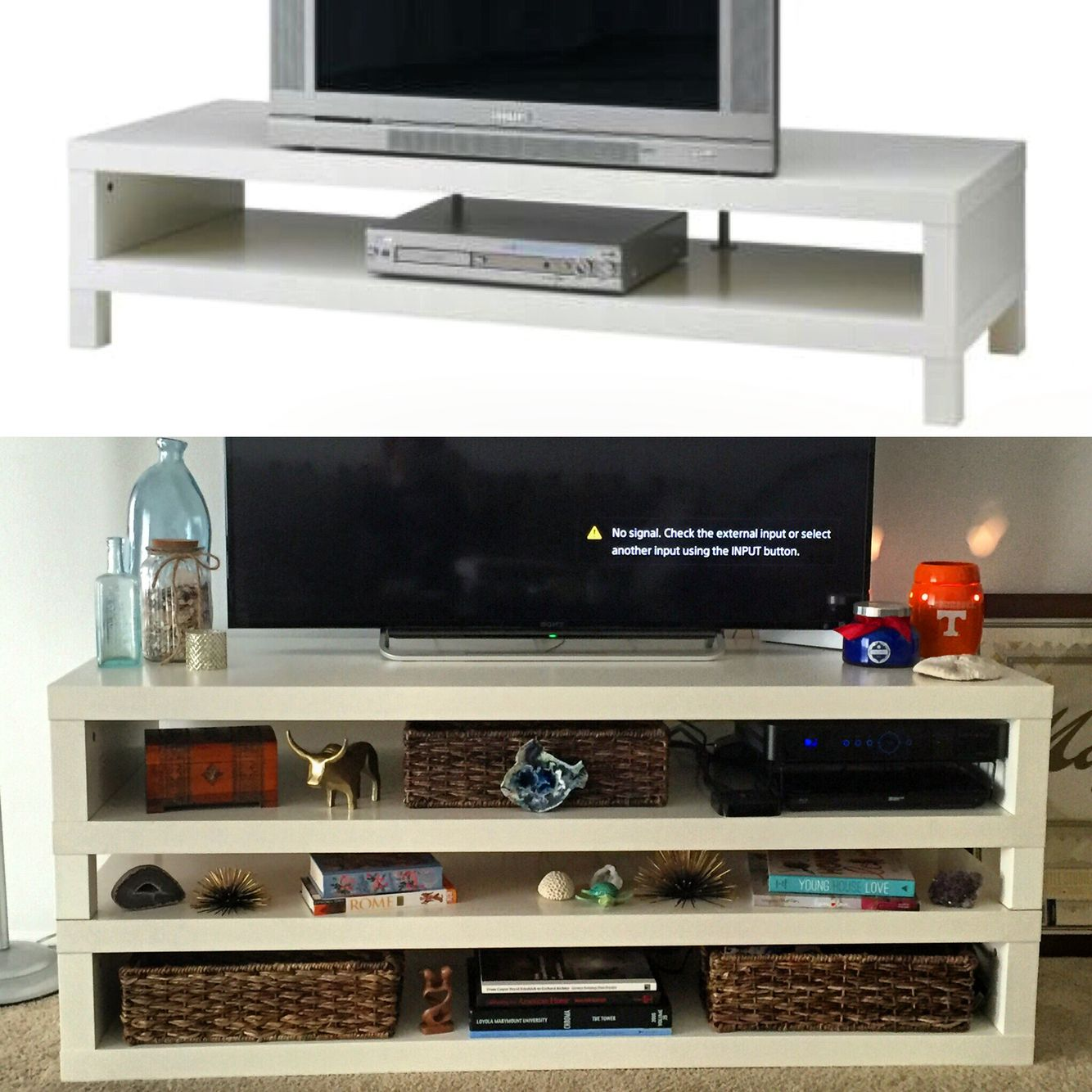 Hacking By Stacking Ikea Lack Tv Unit Hack For A Higher Profile