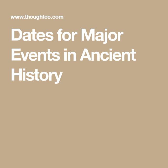 Photo of The When and Where of Major Events in Ancient History