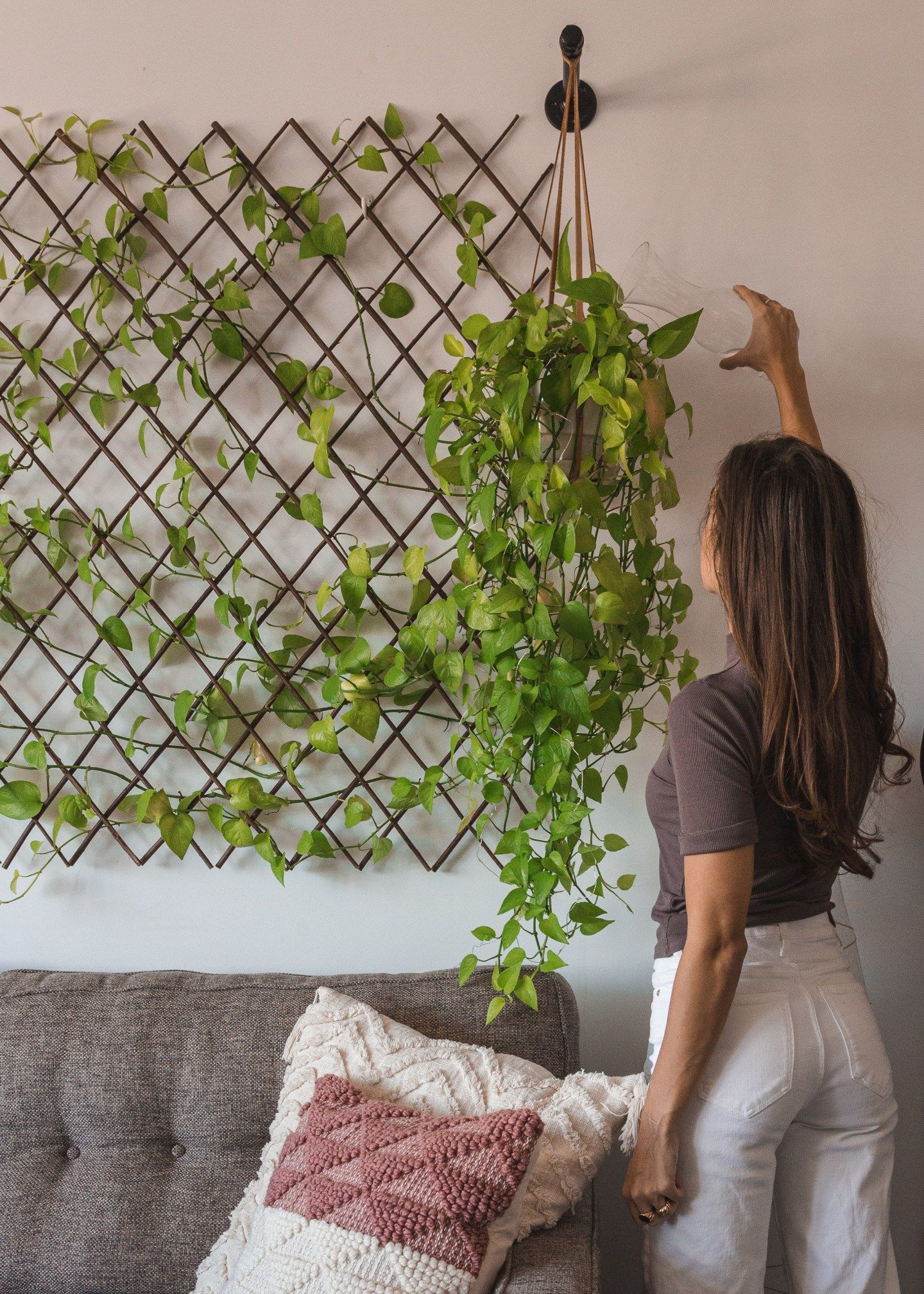 Brooklyn apartment tour in 2020 plant wall indoor plant