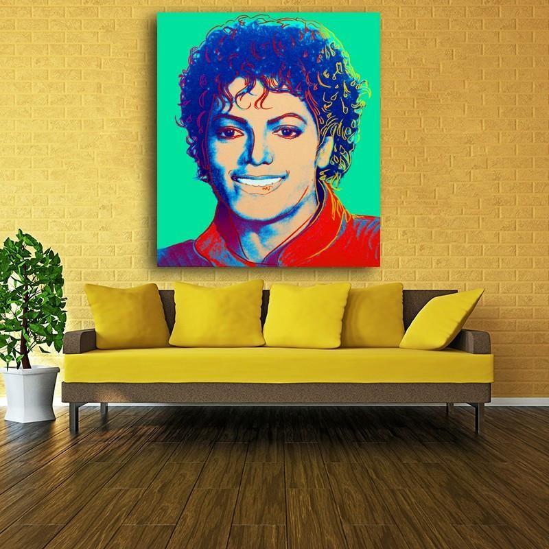 PRINT CANVAS] Michael Jackson Portrait Green, 1984 - Andy Warhol ...