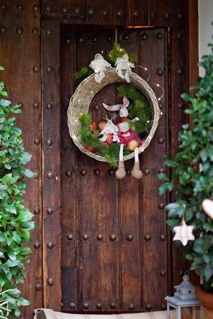 Adornos navide os para la puerta cosas que me encantan for Guirnaldas navidenas para puertas y ventanas