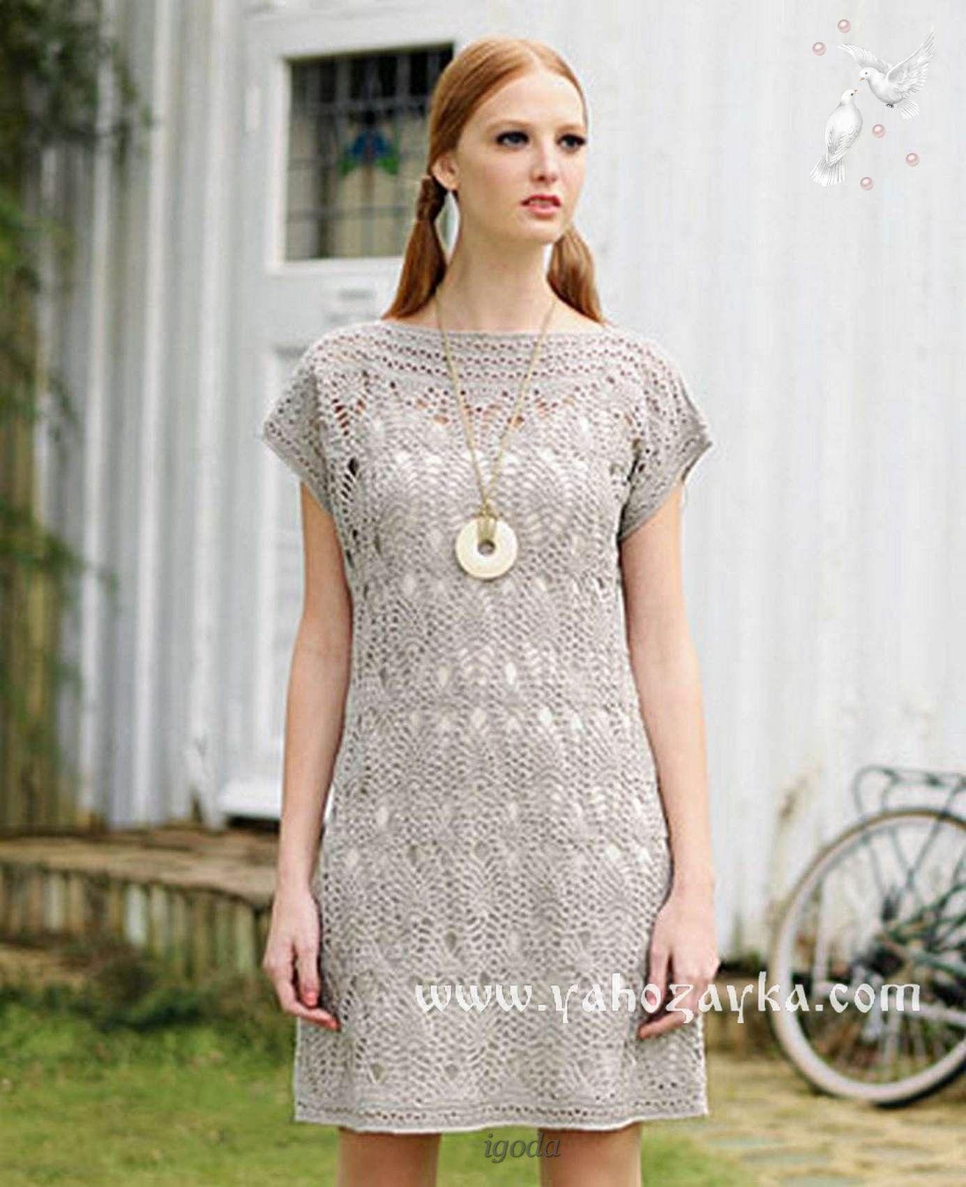 Платья из великолепной крючком