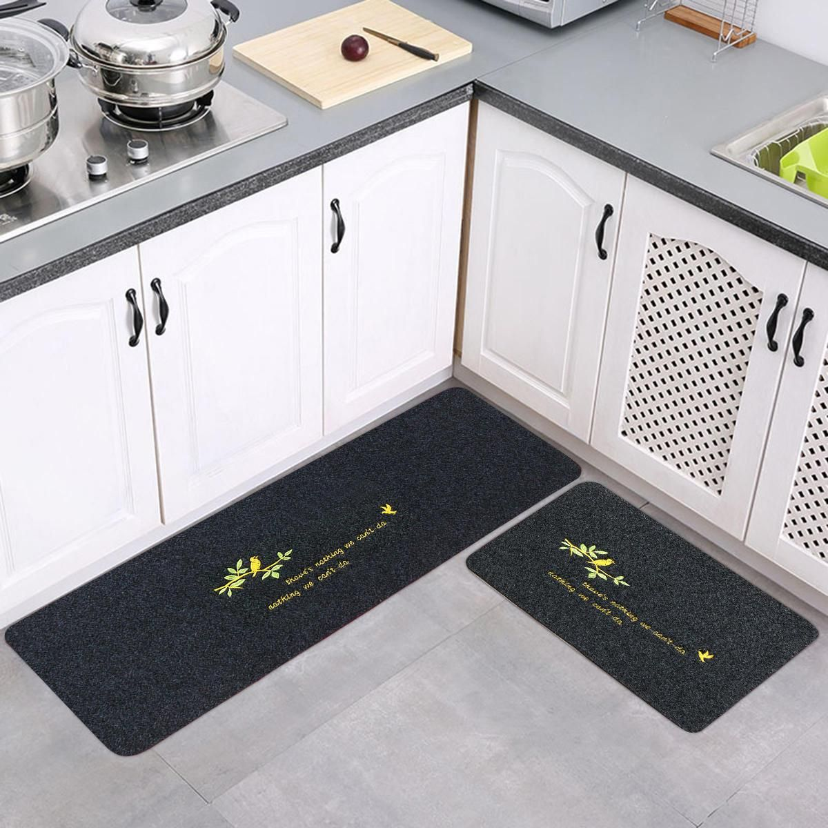 Waterproof Carpet Non Slip Door Floor Carpet Rug Bath Mat Home Kitchen Bathroom In 2020 Modern Kitchen Rugs Long Kitchen Kitchen Mat