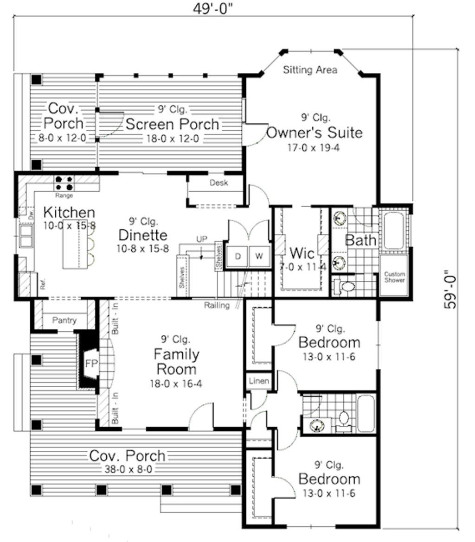 Main floor plan sq ft beds baths u wide