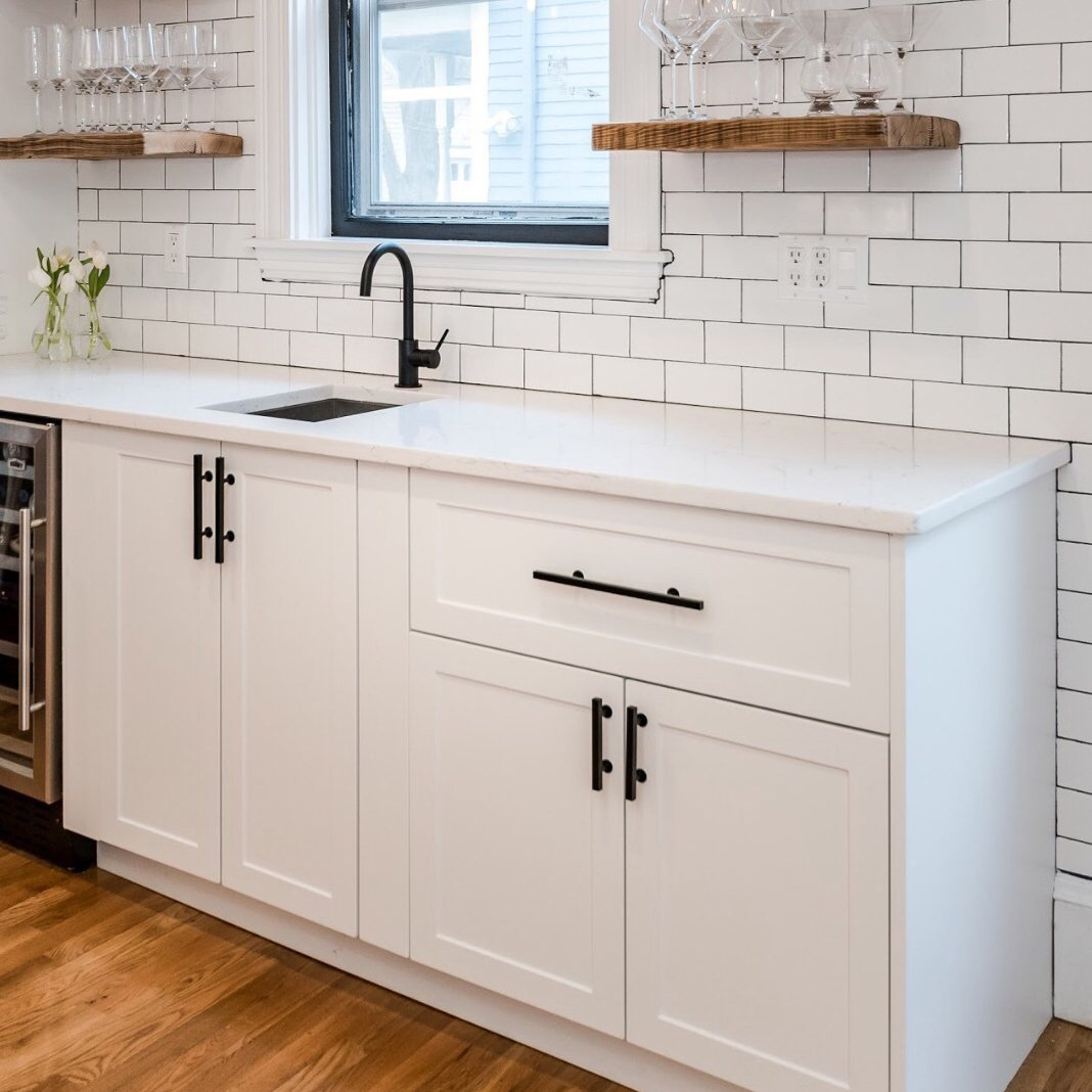 Update your Ikea kitchen cabinets by adding shaker doors ...