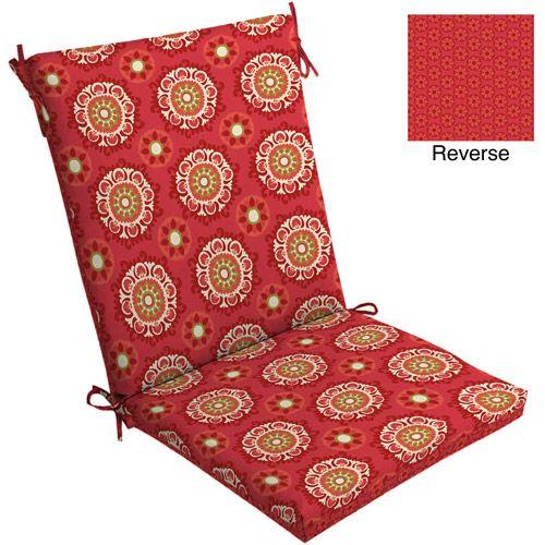 25 00 20x20x3 5 Seat 24x20x3 5 Back Mainstays Outdoor Chair Cushion